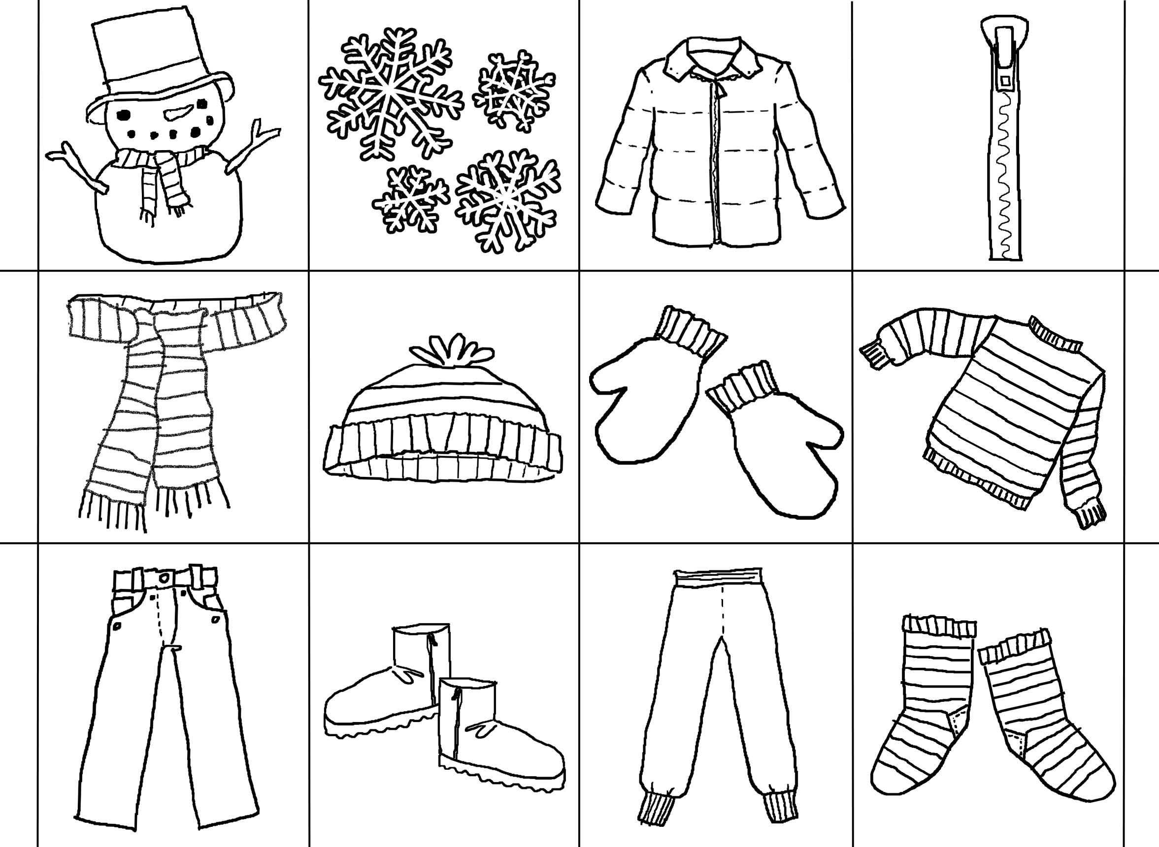 winter words ctivities coloring pages - photo#15